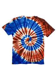 Red & Blue Unisex Tie-Dye Tee