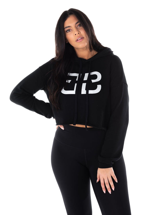BRIZEE DOUBLE B CROPPED HOODIE