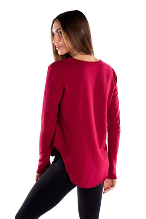 BIRDIEBEE RAW EDGE SHIRTTAIL CREWNECK