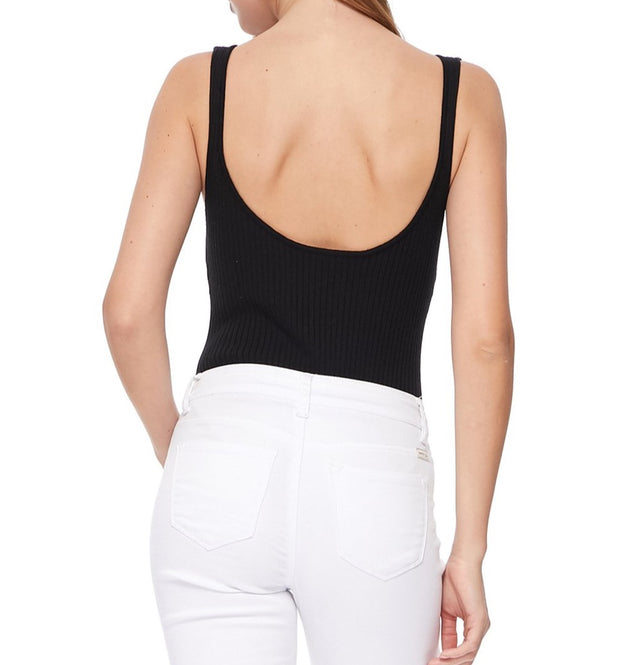 Birdiebee Embroidered Ribbed Bodysuit