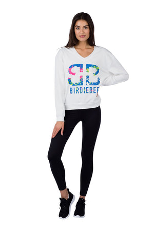 HOT SHOT V-NECK COLOR SPLASH SWEATSHIRT