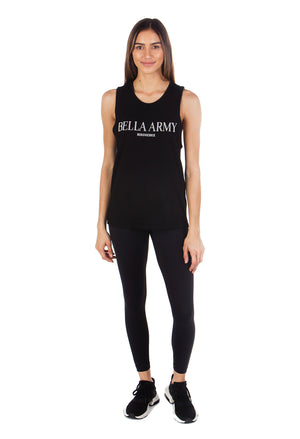 BELLA ARMY MUSCLE TANK