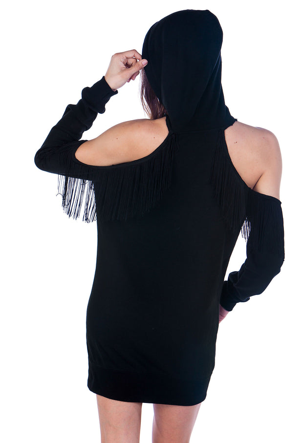 Limited Edition Fashion Fringe Tunic Hoodie