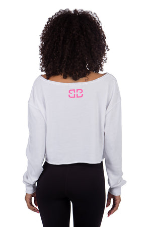 FEARLESS GRAFFITI CROPPED SWEATER