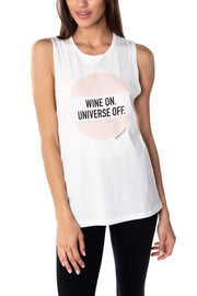 Wine On Muscle Tank