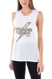 Wine-der Woman Muscle Tank