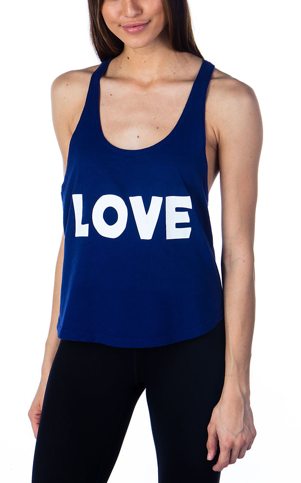 Love Cropped Racerback Tank