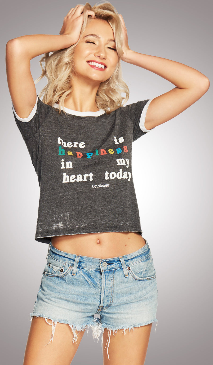 Happiness In My Heart Ringer Tee