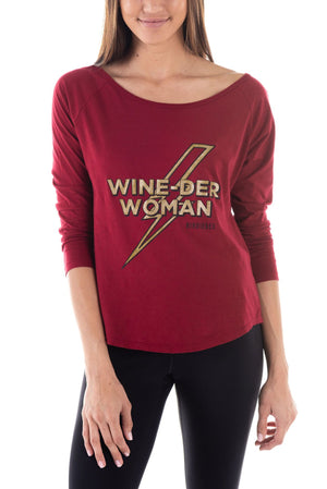 Wine-der Woman 3/4 Raglan Tee