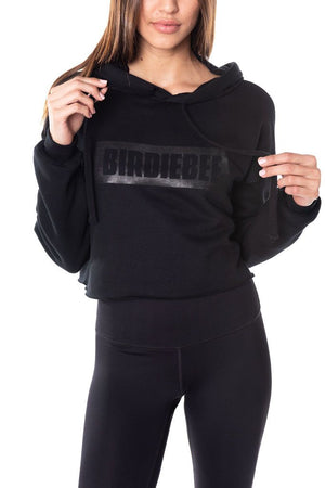 BLACKED OUT BIRDIEBEE CROPPED HOODIE