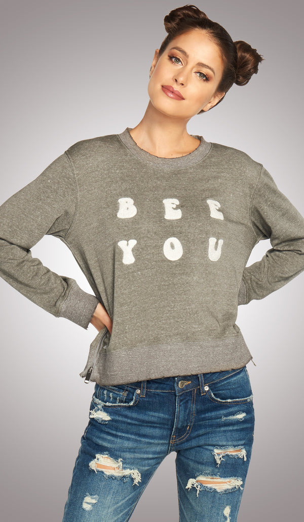 Bee You Zipper Pullover