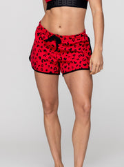 Printed Heart Leopard  Short