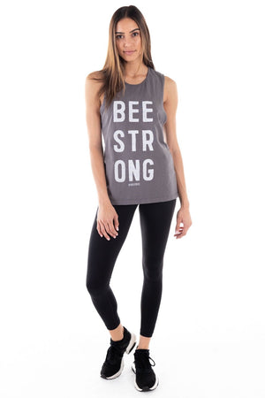 BEE STRONG MUSCLE TANK