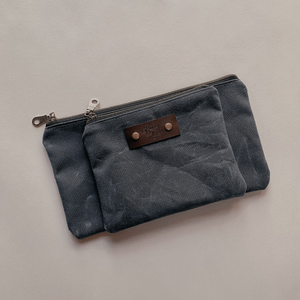 Zipper Pouch Set - Slate