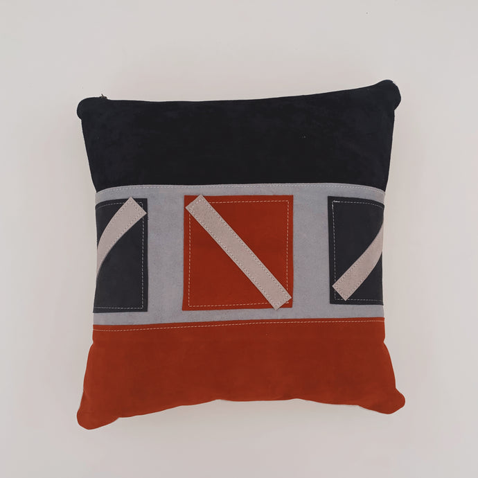 Suede Patchwork Pillow 003