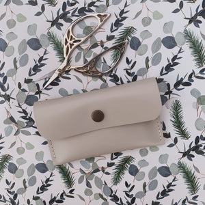 Leather Card Holder - Coconut