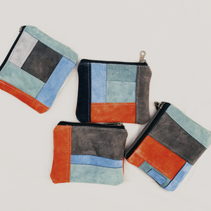 Suede Patchwork Notion Pouch // 004