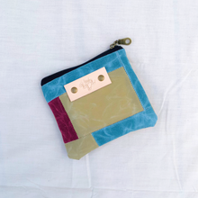 Load image into Gallery viewer, Waxed Canvas Patchwork Notion Pouch // 001