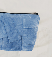 Load image into Gallery viewer, Sky Blue Suede Patchwork Pouch // 014