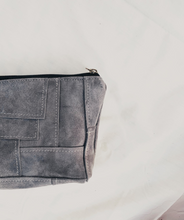 Load image into Gallery viewer, Grey Suede Patchwork Pouch // 008