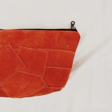 Load image into Gallery viewer, Peach Suede Patchwork Pouch // 012