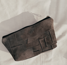 Load image into Gallery viewer, Moss Suede Patchwork Pouch // 009