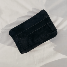 Load image into Gallery viewer, Black Suede Patchwork Pouch // 016