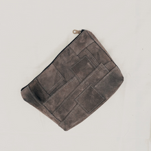 Load image into Gallery viewer, Moss Suede Patchwork Pouch // 010