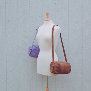 Purple (Spring Fling) Barrel Bag // Mean Purls Collection