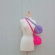 Load image into Gallery viewer, Purple (Spring Fling) Barrel Bag // Mean Purls Collection