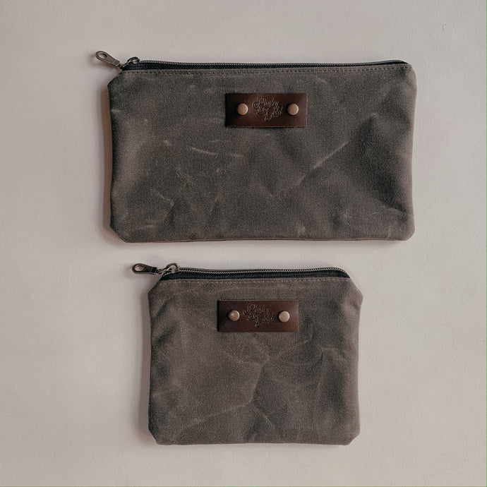 Zipper Pouch Set - Olive