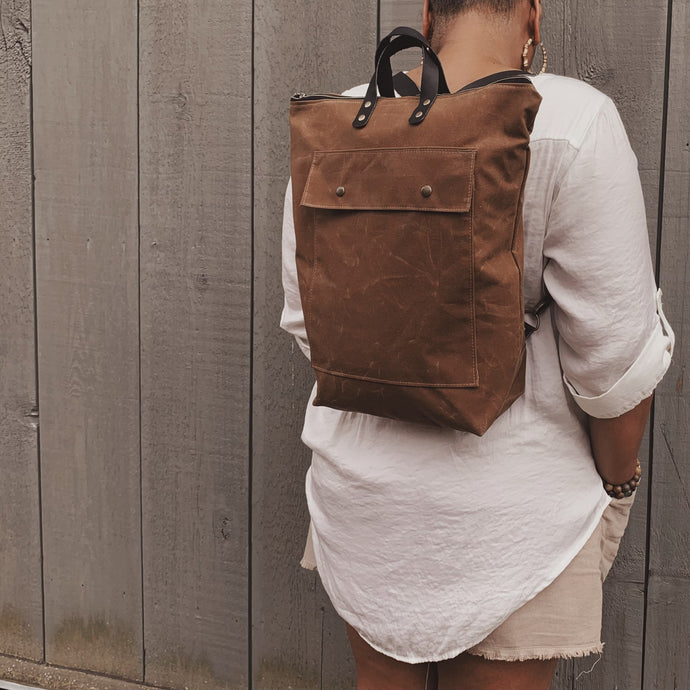 The Devon Convertible Backpack - Copper