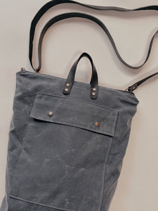 The Devon Convertible Backpack - Slate