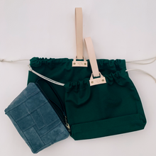 Load image into Gallery viewer, Hamilton Leather Loop Project Bag - Emerald