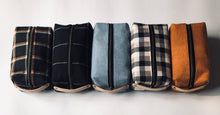 Black & White Plaid Cotton Flannel Dopp Kit