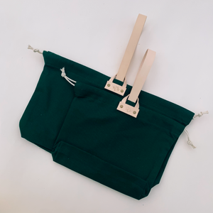 Hamilton Leather Loop Project Bag - Emerald