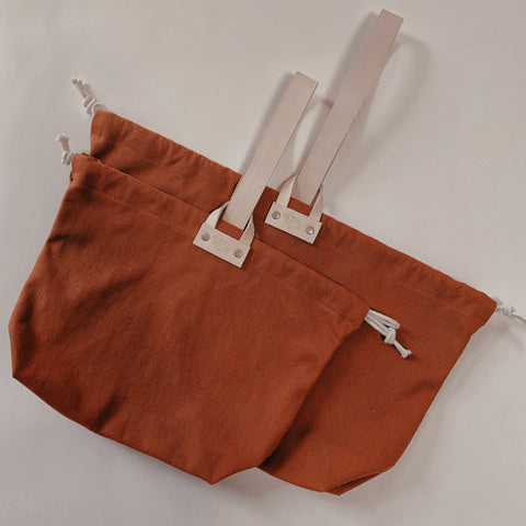 Hamilton Leather Loop Project Bag - Pumpkin