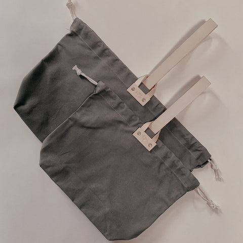 Hamilton Leather Loop Project Bag - Olive