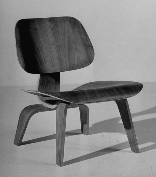 Chair designed by Charles Eames made of plywood. Time Magazine 1950