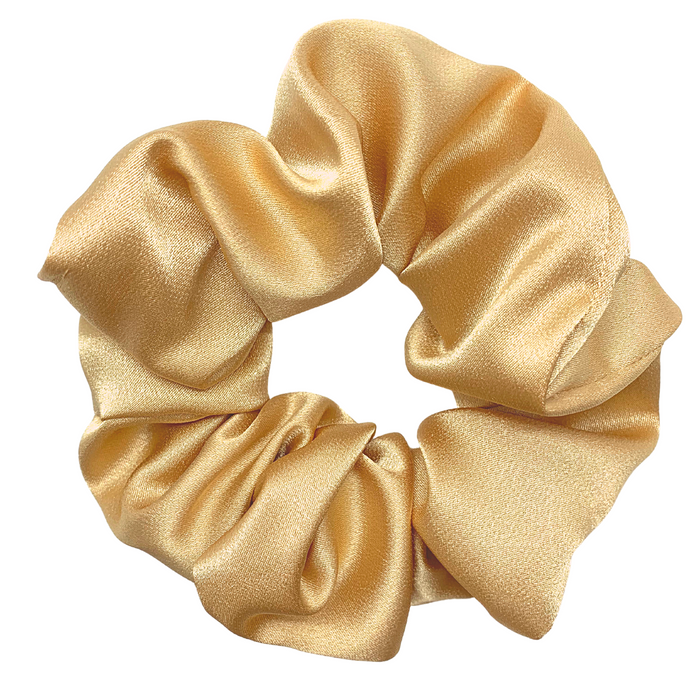 So Golden Satin Scrunchie
