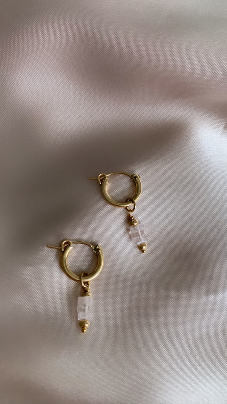 Golden Honey Hoops -  the Blush Edit