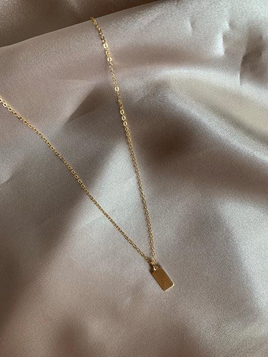 Golden Tag Necklace