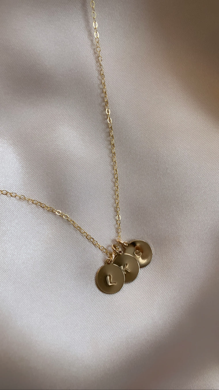 Ava | Necklace with Three Initials