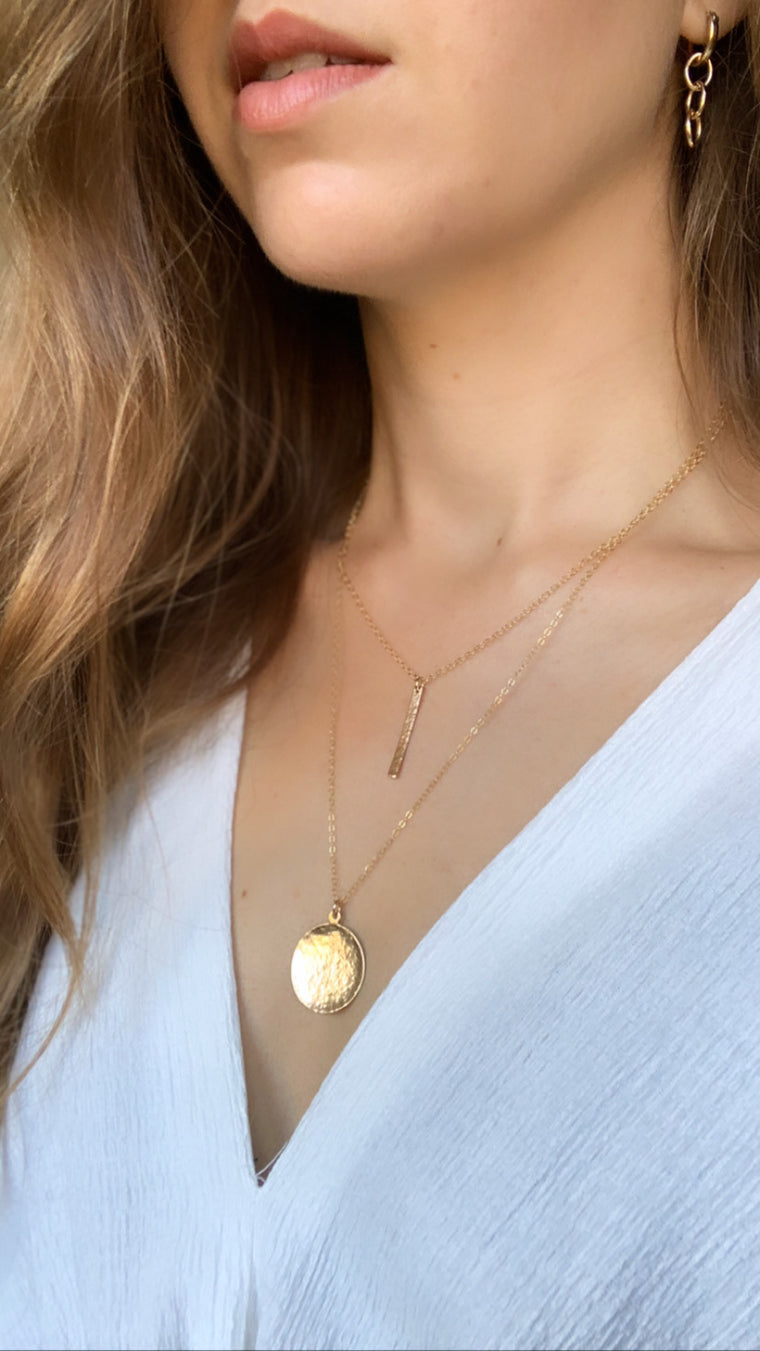 Sunkissed Gold Pendant Necklace