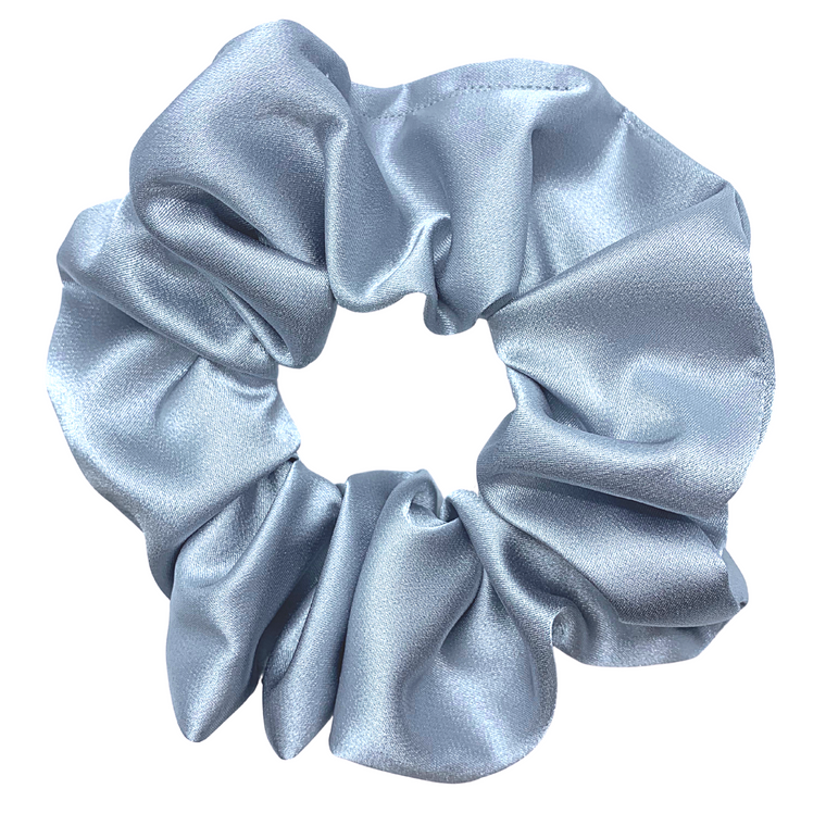 Dreamy Blue Satin Scrunchie