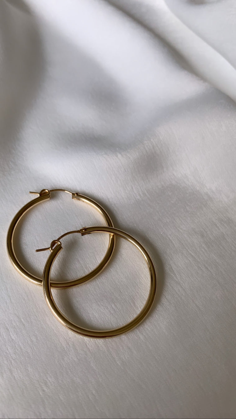 Ayla | Gold Hoop Earrings