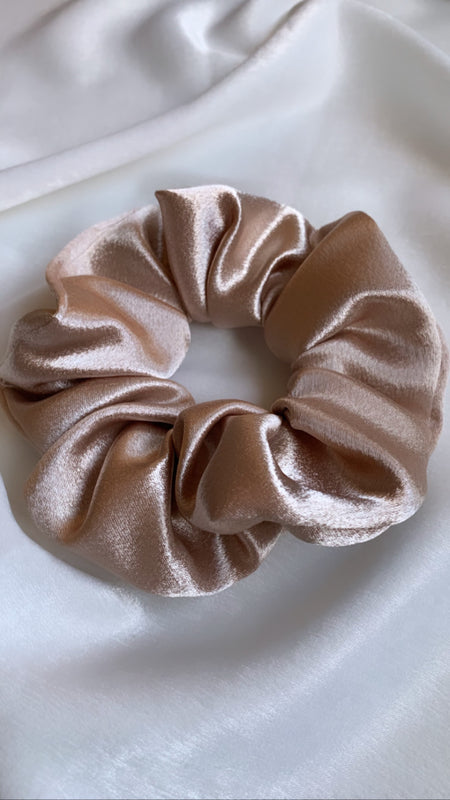Luxe Rose' Satin Scrunchie