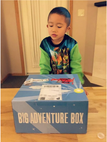 Child has delivered Big Adventure Box