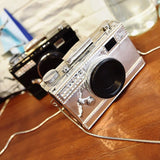 Adorably Awesome Camera Purse for the Photographer, Model or Dreamer! It comes in Black or silver.