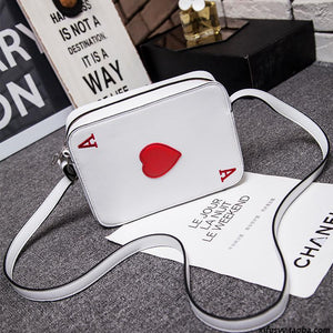 Be the only one holding the Ace! We are in love with this Ace of Hearts Card Purse Shoulder Bag